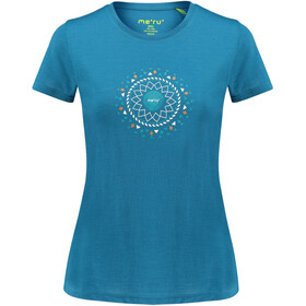 Meru Enköping Wollen T-shirt Dames, blue saphire